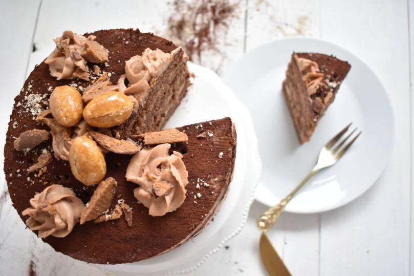 Blätterkrokant Nougat Torte (3)
